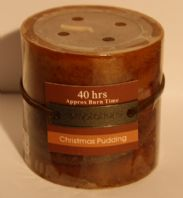 Christmas pudding Small pillar Candle